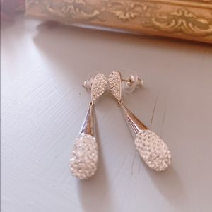 Swarovski earrings 1.7 inches long